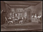 "A scene from an amateur production of ""She Stoops to Conquer"" Fine Art Print by Byron Company"