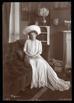 Ethel Barrymore sitting in the living room, 1902 or 1903 Wall Art & Canvas Prints by Daniel Clarke