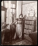Anita Chartres in the corner of a room, c.1898 Fine Art Print by David Martin