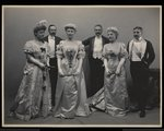 Group portrait of Mrs. Douglas Robinson, Franklin Plumer, Miss Pauline Riggs, Mr. Charles Munn, Mrs. Garrick Riggs and Mr. Frederick Weeks at the James Hazen Hyde Ball, New York, January 31, 1905 Fine Art Print by Byron Company