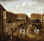 Covent Garden Piazza and Market, 1726-30 Fine Art Print by Mexican School