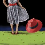 The Red Hat, 2008 Fine Art Print by Marjorie Weiss