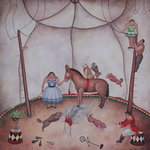 The Little Circus, 1980 (oil on canvas) Wall Art & Canvas Prints by Mary Stuart