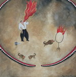 Fire Eater, 1980 (gouache on paper)