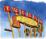 Tucson Inn, 2004 Fine Art Print by Lucy Masterman