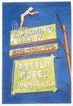 Pueblo Hotel, 2001 (w/c on paper) Postcards, Greetings Cards, Art Prints, Canvas, Framed Pictures, T-shirts & Wall Art by Lucy Masterman