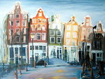 Houses of Amsterdam, 1999 Fine Art Print by Antonia Myatt