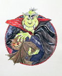 Dracula, 1998 (mixed media) Wall Art & Canvas Prints by English School