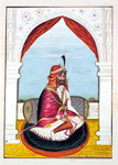 Rajah Suchet Singh, from 'The Kingdom of the Punjab, its Rulers and Chiefs, volume I', a volume of 27 watercolour studies by an unidentified Indian artist, c.1840 Fine Art Print by French School