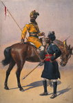 Soldiers of the 1st Duke of York's Own Lancers Wall Art & Canvas Prints by Alfred Crowdy Lovett