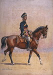 Soldier of the 12th Cavalry, Jemadar, Dogra, illustration for 'Armies of India' by Major G.F. MacMunn, published in 1911, 1909 Wall Art & Canvas Prints by Alfred Crowdy Lovett