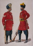 Soldiers of the 5th Light Infantry, Musalman Rajput and the 6th Jat Light Infantry, Jat Havildars, illustration for 'Armies of India' by Major G.F. MacMunn, published in 1911, 1908 Fine Art Print by English Photographer