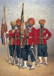Soldiers of the 15th Ludhiana Sikhs, illustration for 'Armies of India' by Major G.F. MacMunn, published in 1911, 1908 Poster Art Print by Louis Dupre
