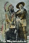 Sitting Bull and Buffalo Bill, c.1885 Fine Art Print by American Photographer