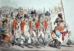 Supplementary Militia Turning out for Twenty Days Amusement, or The French invade us, hay? damme, who's afraid? published by Hannah Humphrey in 1796 Wall Art & Canvas Prints by James Gillray