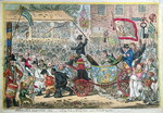 Middlesex Election, 1804, or A Long Pull, a Strong Pull, and a Pull Alltogether, published by Hannah Humphrey in 1804 Fine Art Print by James Gillray