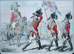 The Salute, or The Parade, published by Hannah Humphrey in 1797 Fine Art Print by Lesueur Brothers