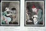 Frying Sprats, or Royal Supper, and Toasting Muffins, or Royal Breakfast, published by Hannah Humphrey in 1791 Wall Art & Canvas Prints by James Gillray
