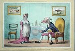 'and would'st thou turn the vile Reproach on me?' published by Hannah Humphrey in 1807 Fine Art Print by James Gillray