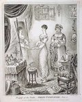 Progress of the Toilet, or Dress Completed, published by Hannah Humphrey in 1810 Wall Art & Canvas Prints by Joseph Caraud