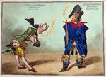 A French Gentleman of the Court of Louis XVI and a French Gentleman of the Court of Egalite, published in 1799 Postcards, Greetings Cards, Art Prints, Canvas, Framed Pictures, T-shirts & Wall Art by James Gillray