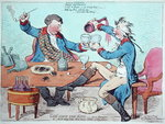 God Save the King- in a bumper, or An Evening Scene Three Times a Week at Wimbleton, published by Hannah Humphrey in 1795 Postcards, Greetings Cards, Art Prints, Canvas, Framed Pictures, T-shirts & Wall Art by James Gillray