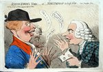 Scotch Harry's News, or Nincumpoop in high Glee, published by J. Aitken in 1792 Fine Art Print by James Gillray