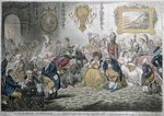 L'Assemblee Nationale, or Grand Cooperative Meeting at St. Ann's Hill - respectfully dedicated to the admirers of a Broad Bottom'd Administration, published by Hannah Humphrey in 1804 Fine Art Print by Isaac Robert Cruikshank