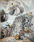 Overthrow of the Republican Babel, published by Hannah Humphrey in 1809 Postcards, Greetings Cards, Art Prints, Canvas, Framed Pictures, T-shirts & Wall Art by James Gillray