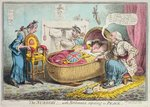 The Nursery! with Britannia reposing in Peace, published by Hannah Humphrey in 1802 Fine Art Print by James Gillray