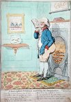 A keen sighted Politician warming his Imagination, published by Hannah Humphrey in 1795 Wall Art & Canvas Prints by James Gillray