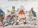Blindman's Buff, or Too Many for John Bull, published by Hannah Humphrey in 1795 Fine Art Print by James Gillray