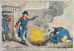 The Crown & Anchor Libel burnt by the Public Hangman, published by Hannah Humphrey in 1795 Fine Art Print by English School