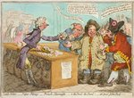 Bank Notes - Paper Money - French Alarmists - ah! poor John Bull! published by Hannah Humphrey in 1797 Poster Art Print by James Gillray