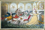 Company shocked at a Lady getting up to Ring the Bell, etched by James Gillray Fine Art Print by James Gillray