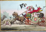 One of the advantages of a Low Carriage, published by Hannah Humphrey in 1801 Postcards, Greetings Cards, Art Prints, Canvas, Framed Pictures & Wall Art by James Gillray