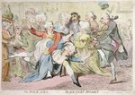 The Royal Joke, or Black Jacks Delight, published by S.W. Fores in 1788 Wall Art & Canvas Prints by James Gillray