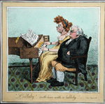 'Lullaby - soothe him with a lullaby!' published by Hannah Humphrey in 1798 Wall Art & Canvas Prints by James Gillray