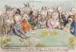 Modern Hospitality, or A Friendly Party in High Life, published by Hannah Humphrey in 1792 Poster Art Print by James Gillray