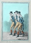 The Three Mr Wiggins's, published by Hannah Humphrey in 1803 Fine Art Print by James Gillray