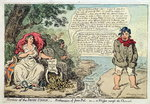 Horrors of the Irish Union: Botheration of Poor Pat, or A Whisper across the Channel, published by Hannah Humphrey in 1798 Wall Art & Canvas Prints by James Gillray