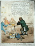 Effusions of the Heart, or Lying Jack the Blacksmith at Confession, published by Hannah Humphrey in 1795 for the Philanthropic Society Fine Art Print by James Gillray