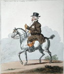 A Scotch Poney, commonly call'd a Galloway, published by Hannah Humphrey in 1803 Fine Art Print by James Gillray