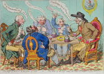 The Feast of Reason, & the Flow of the Soul - i.e. The Wits of the Age, setting the Table in a Roar, published by Hannah Humphrey in 1797 Wall Art & Canvas Prints by James Gillray