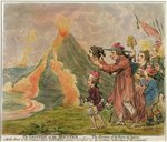 The Eruption of the Mountain, or The Horrors of the 'Bocca del Inferno' published by Hannah Humphrey in 1794 Postcards, Greetings Cards, Art Prints, Canvas, Framed Pictures, T-shirts & Wall Art by James Gillray