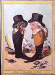 A Pair of Polished Gentlemen, published by Hannah Humphrey in 1801 Fine Art Print by James Gillray