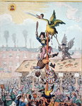 Election Candidate, or the Republican Goose at the Top of the Pole, published by Hannah Humphrey in 1807 Fine Art Print by James Gillray