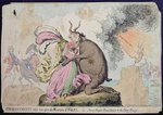 Enchantments lately seen upon the Mountain of Wales, or Shon-ap-Morgan's Reconcilement to the Fairy Princess, published by Hannah Humphrey in 1796 Fine Art Print by James Gillray