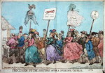 Procession to the Hustings after a Successful Canvass, published by G. Humphrey in 1784 Fine Art Print by James Gillray