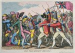 The Triumphant Britons, published by Hannah Humphrey in 1780 Poster Art Print by James Gillray